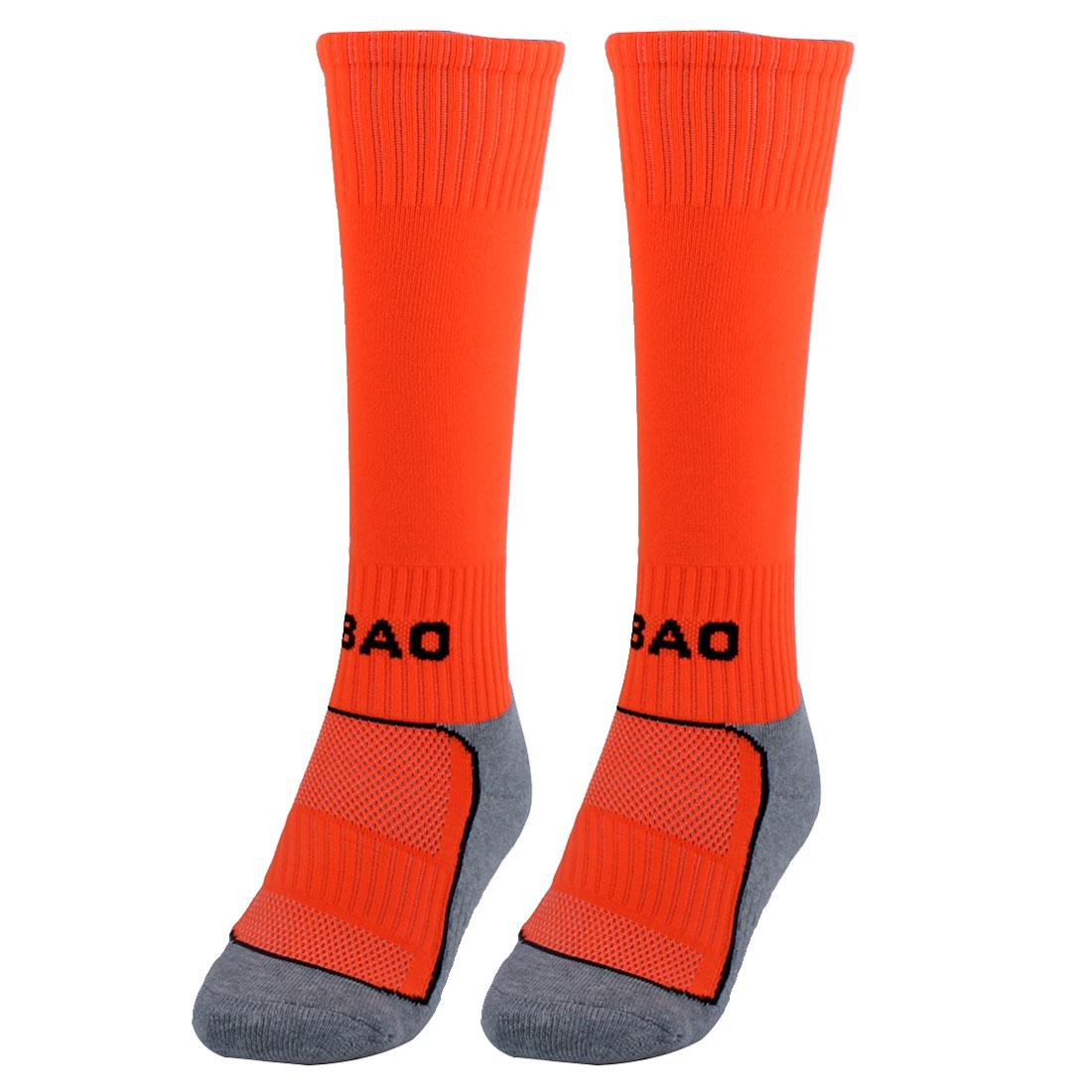 R-BAO Authorized Outdoor Sports Soccer Football Long Socks Orange Pair
