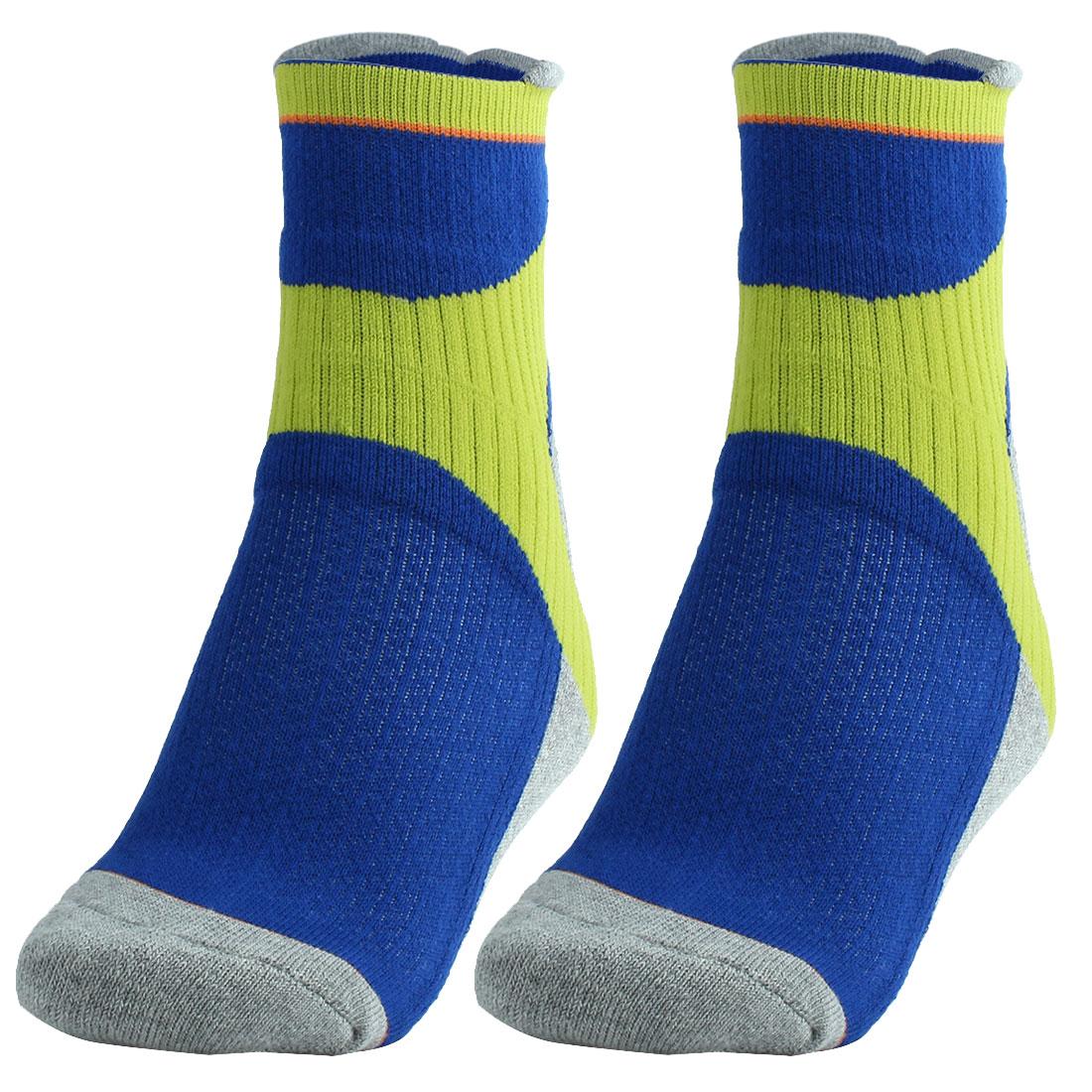R-BAO Authorized Adult Badminton Sports Mountain Bike Cycling Socks Blue Pair