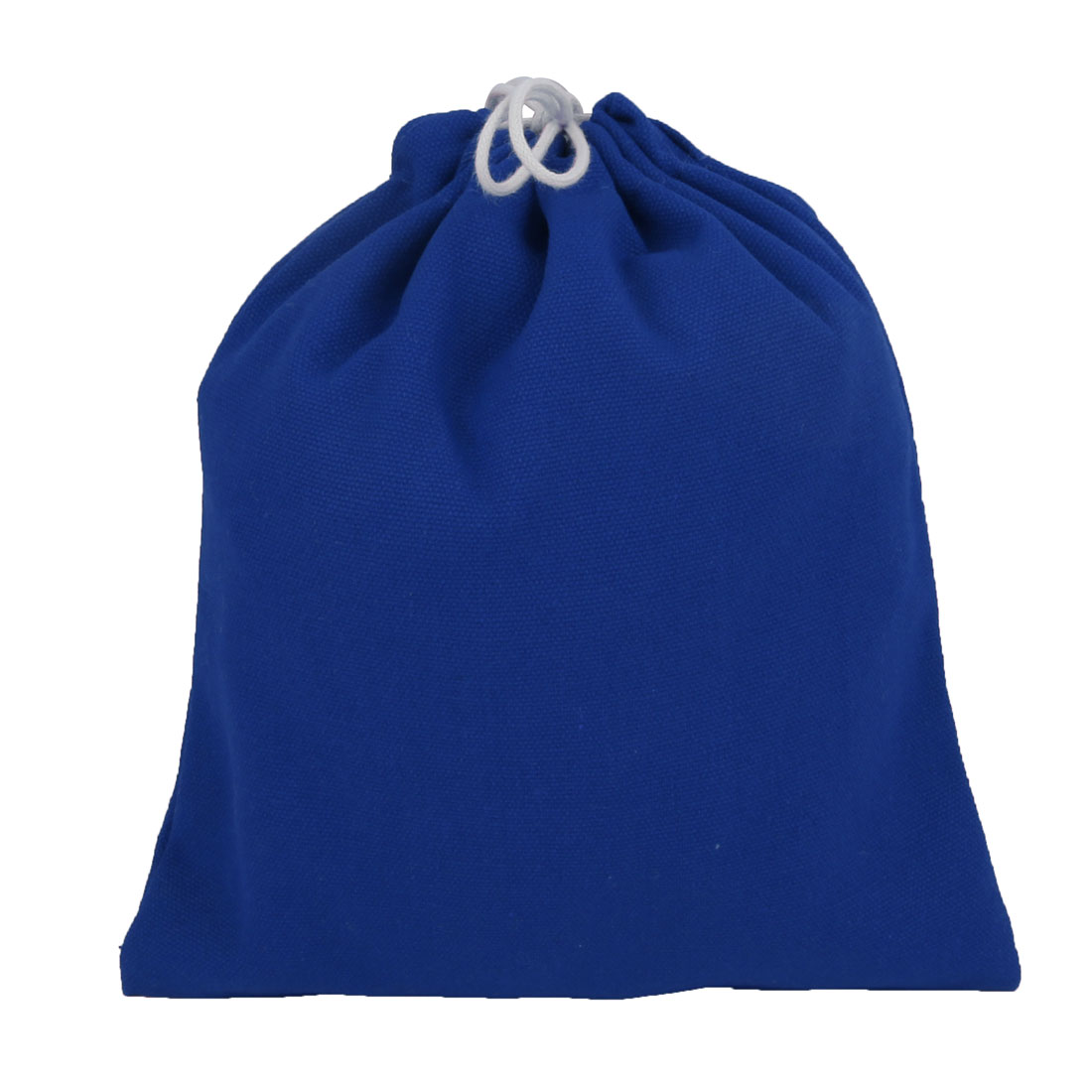 Home Travelling Canvas Drawstring Pouch Storage Packing Gift Toe Bag Royal Blue
