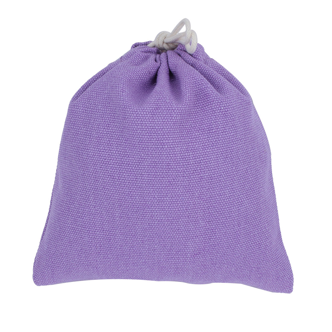 Household Travel Canvas Drawstring String Pouch Storage Packing Toe Bag Purple