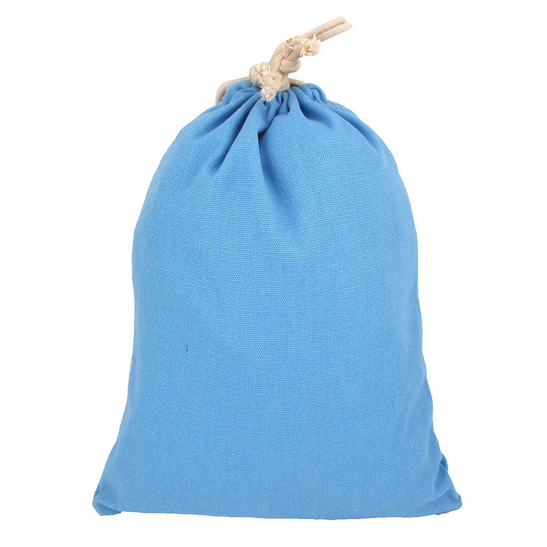 Outdoor Canvas Draw Pouch Storage Packing Gift Toe Bag Light Blue