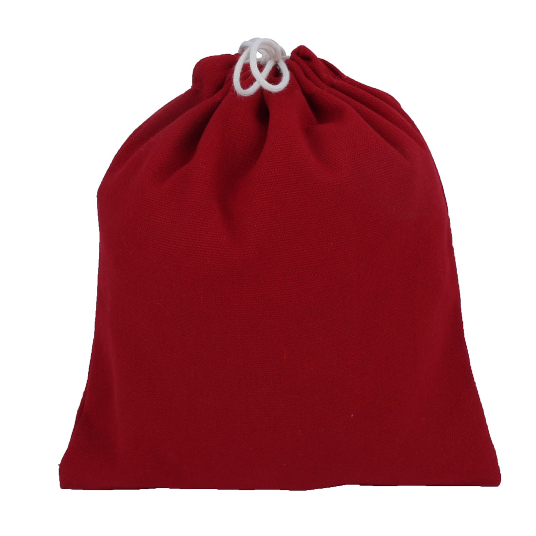 Home Travelling Canvas Drawstring String Pouch Storage Packing Gift Toe Bag Red