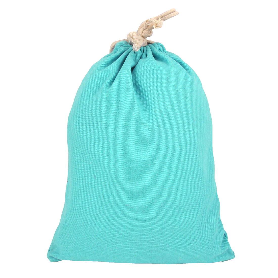Home Travelling Canvas Draw Pouch Storage Packing Gift Toe Bag Cyan