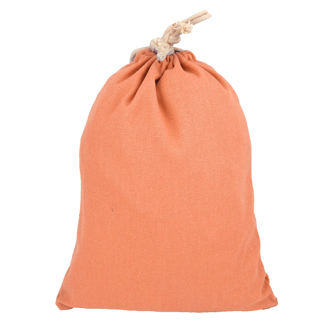 Travelling Canvas Drawstring String Pouch Storage Packing Gift Toe Bag Orange