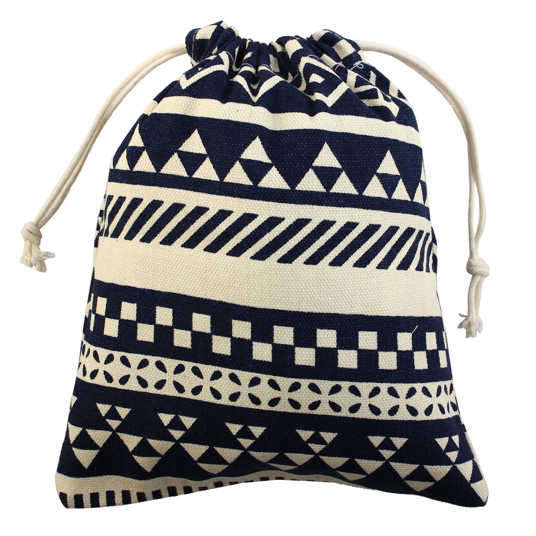 National Style Sundries Storage Candy Gift Pouch Drawstring Bag Blue Small