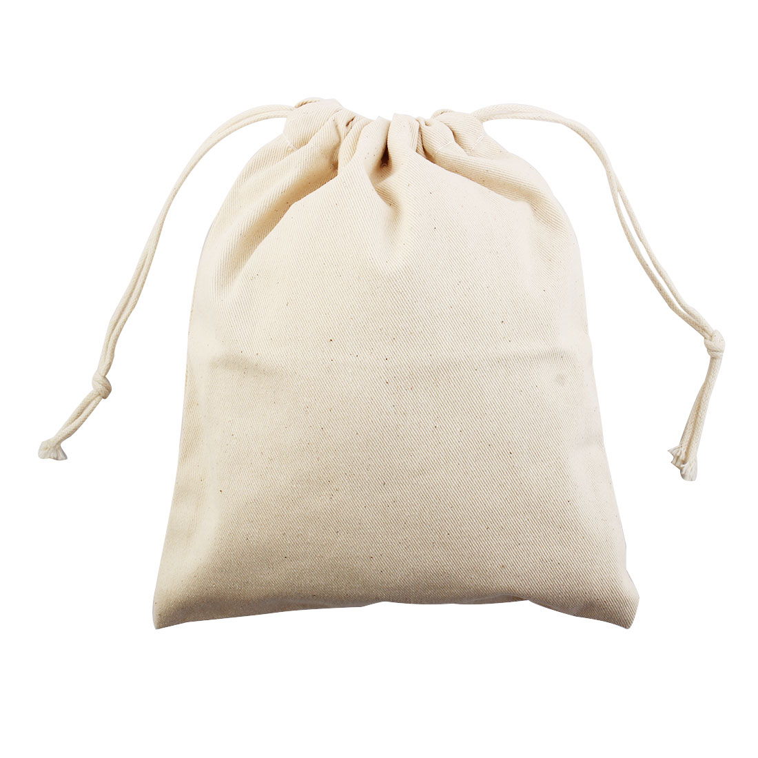 Travel Protable Sundries Storage Candies Gift Pouch Drawstring Bag Beige Large