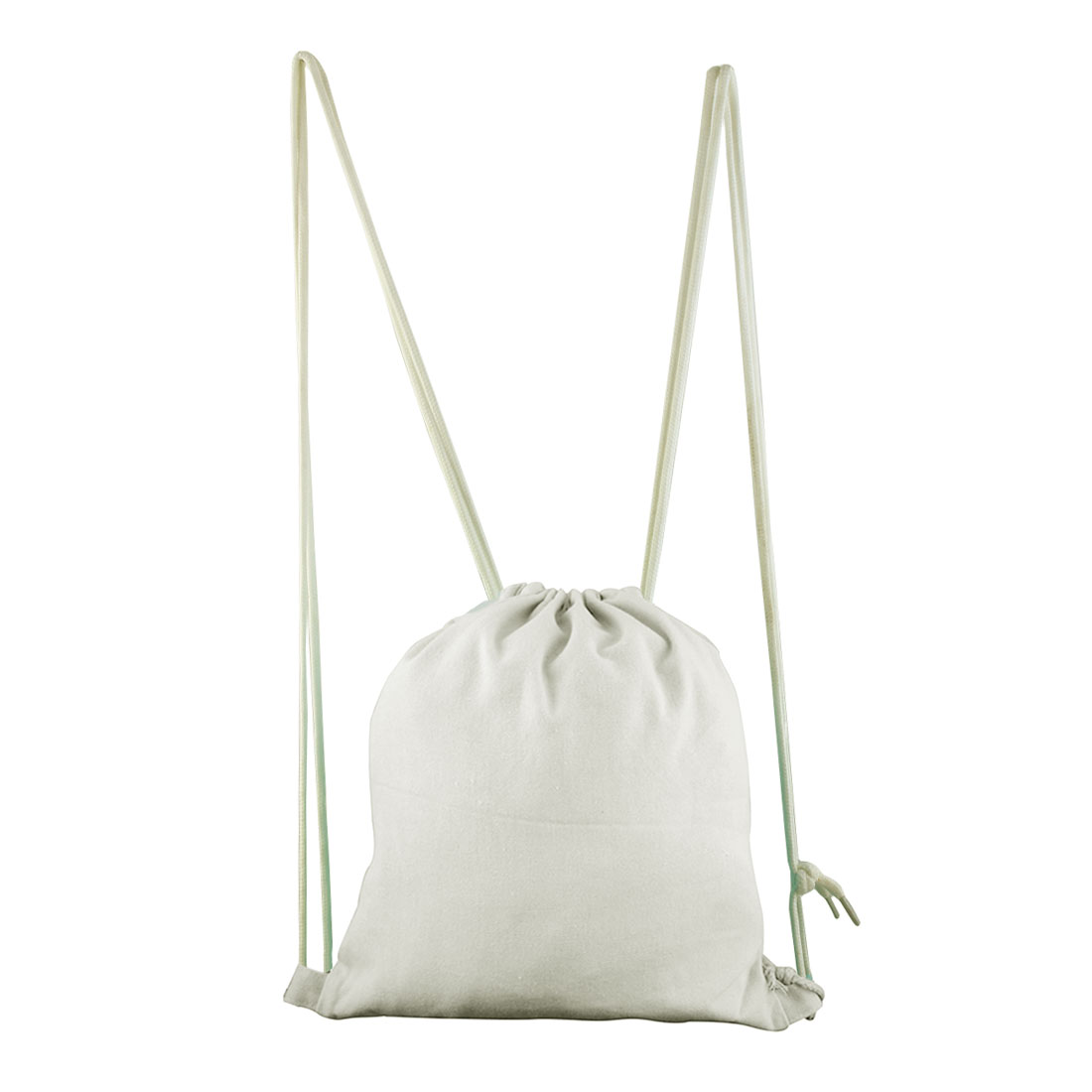 Travel Cosmetics Storage Pouch Sport Tote Bag Drawstring Backpack White