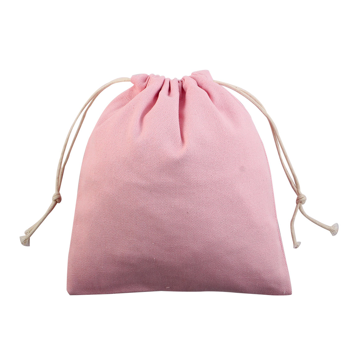 Travel Cosmetics Sundries Storage Gift Pouch Drawstring Closure Bag Pink Small