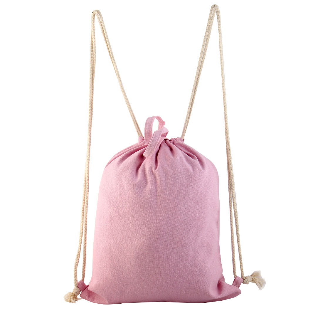 Travel Pouch Sport Pack Double Use Tote Bag Drawstring Backpack Pink