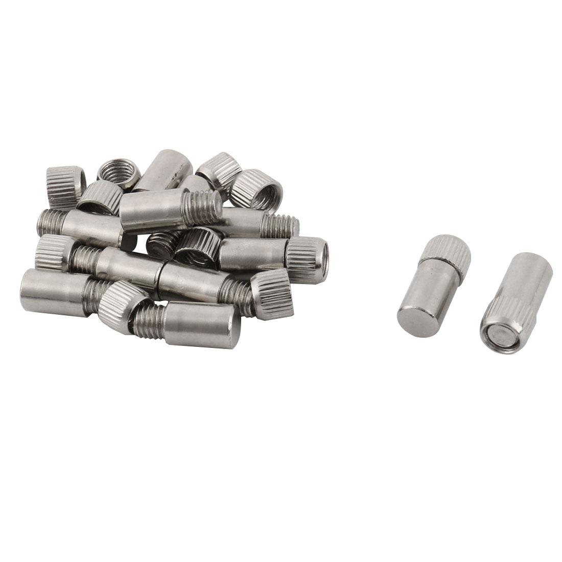 Household Metal Furniture Cabinet Cupboard Support Shelf Pin Peg 9mm Dia 12 Pcs