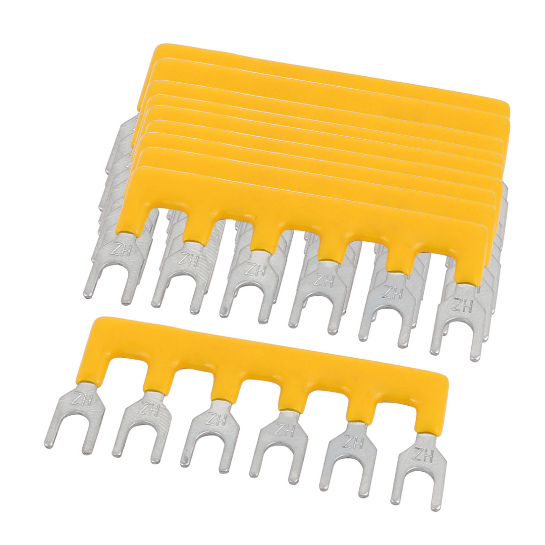 10 PCS 600V 15A 5.0mm Pitch 6 Position PCB Terminal Block Strip Barrier Yellow