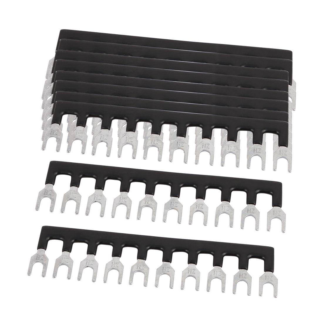 10PCS TBC-10A 5mm Pitch 10 Position PCB Screw Terminal Strip Barrier Black