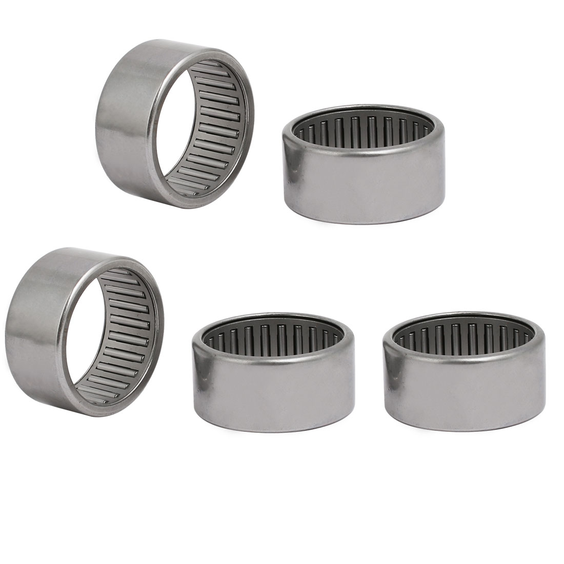HK3520 42mmx35mmx20mm Drawn Cup Open End Needle Roller Bearing Silver Tone 5pcs