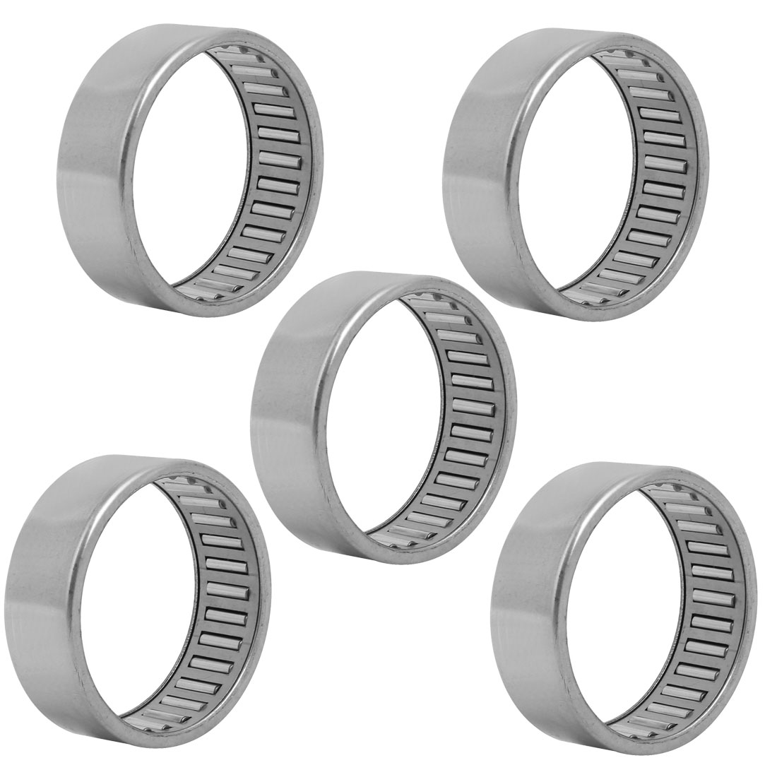 HK5020 58mmx50mm Drawn Cup Open End Needle Roller Bearing Silver Tone 5pcs