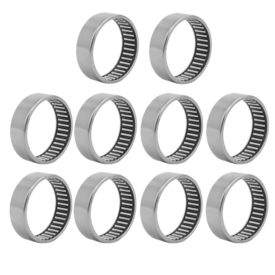HK5520 63mmx55mm Drawn Cup Open End Needle Roller Bearing Silver Tone 5pcs