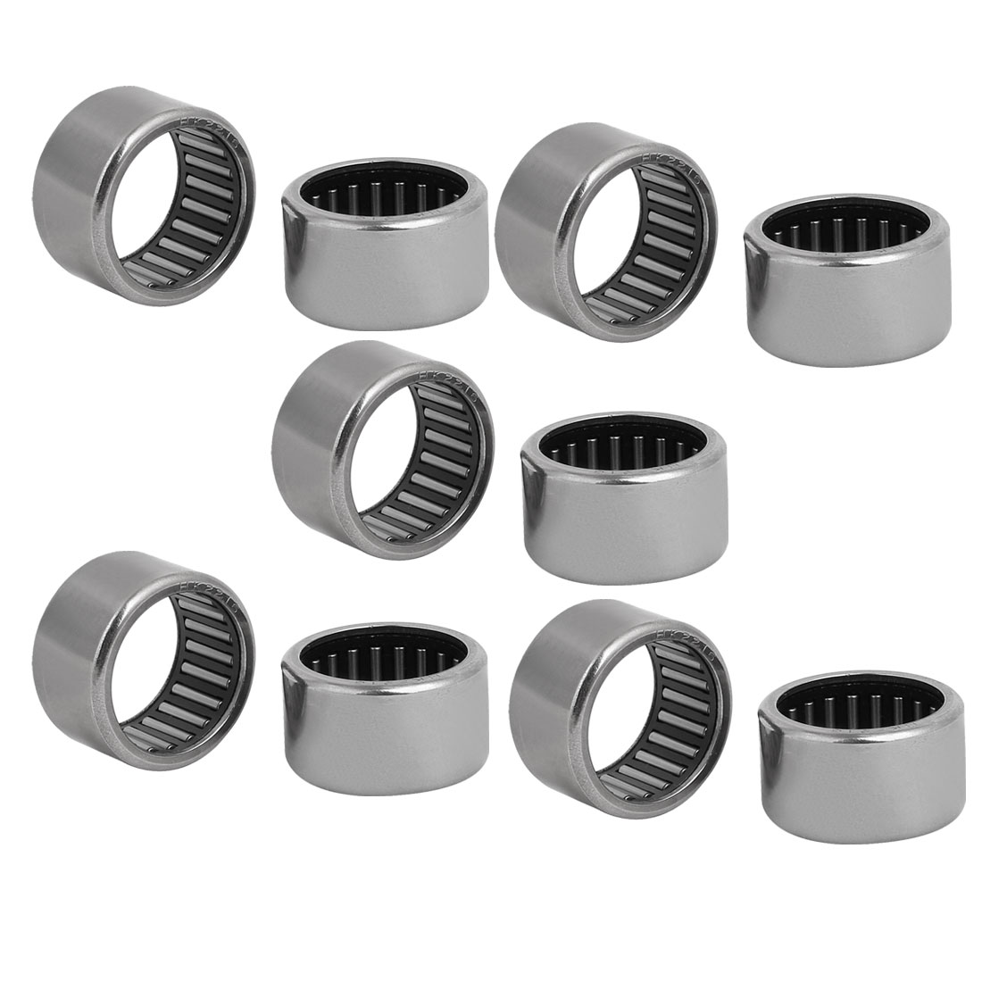HK2216 28mmx22mmx16mm Drawn Cup Open End Needle Roller Bearing Silver Tone 10pcs