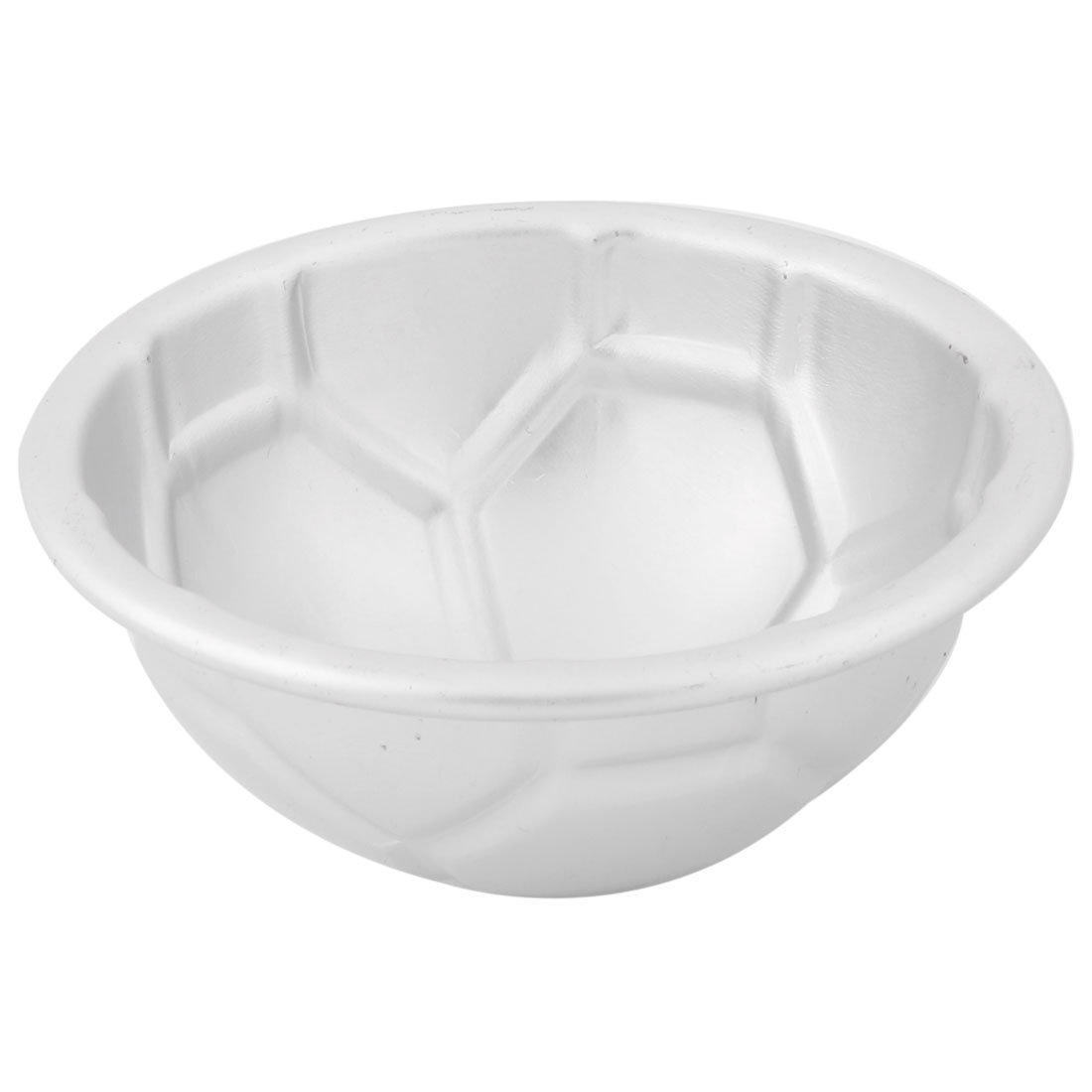 Kitchen Stainless Steel Football Shaped Cake Egg Pudding Mold Silver Tone