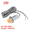 LJC24A3-T-J/EZ 1-20mm Capacitance Proximity Sensor Switch NO AC 90-250V 400mA