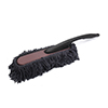 Blue Chenille Black Non Slip Handle Duster Wax Drag Cleaning Tool for Car