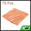 75Pcs Orange White Bicycle Wheel Rim Spoke Tube Reflector Reflective Strip