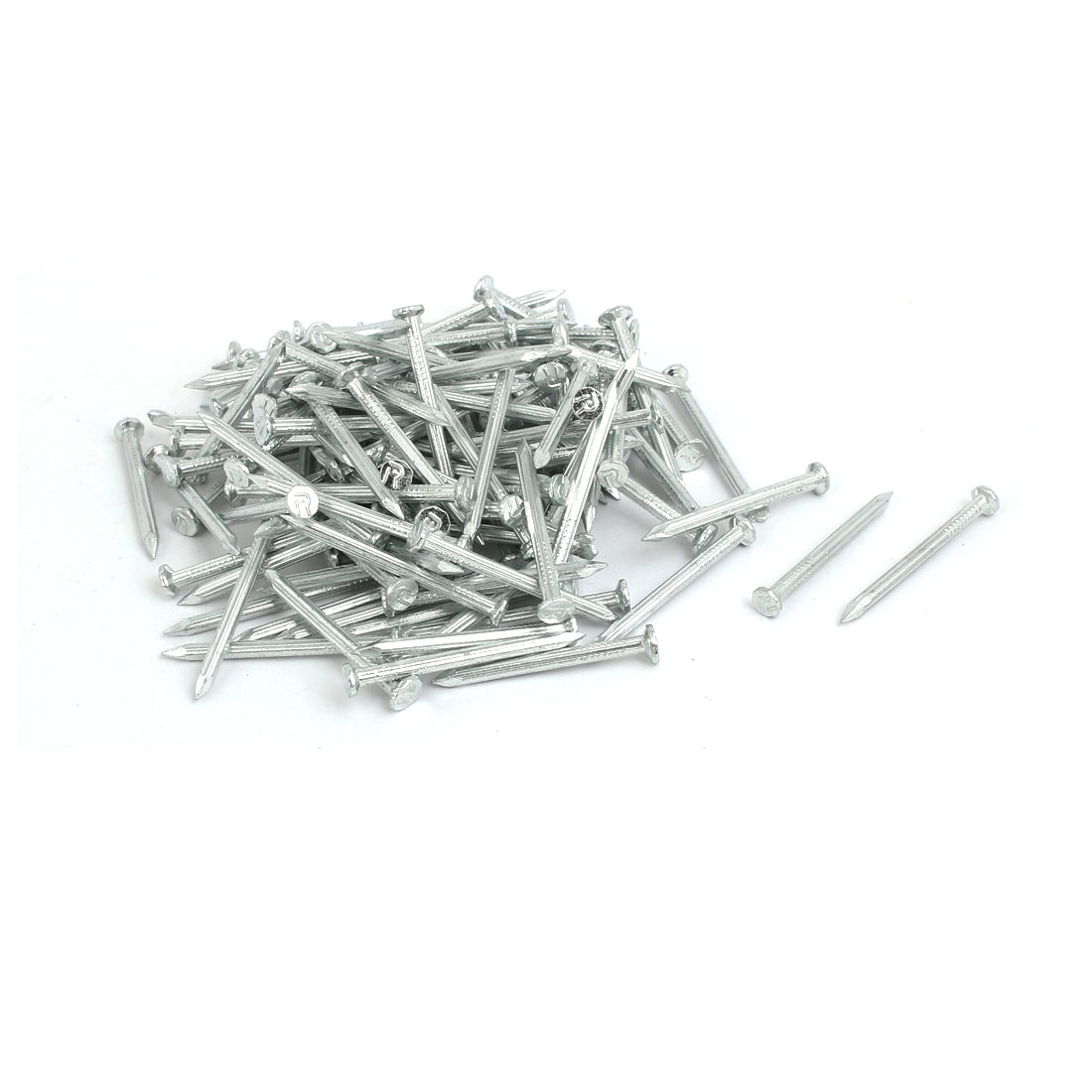 1.5-inch Length Carbon Steel Point Tip Wall Cement Nails Silver Tone 200pcs