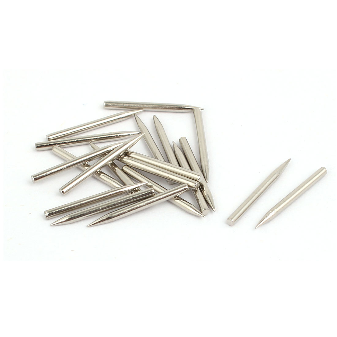 1.4mm x 17mm Carbon Steel Non-Head Siding Wall Cement Nail 20pcs