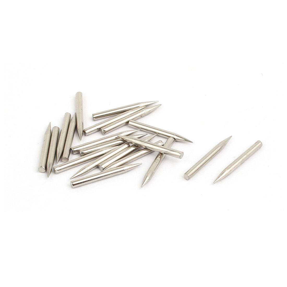 1.4mm x 14mm Carbon Steel Non-Head Siding Wall Cement Nail 20pcs