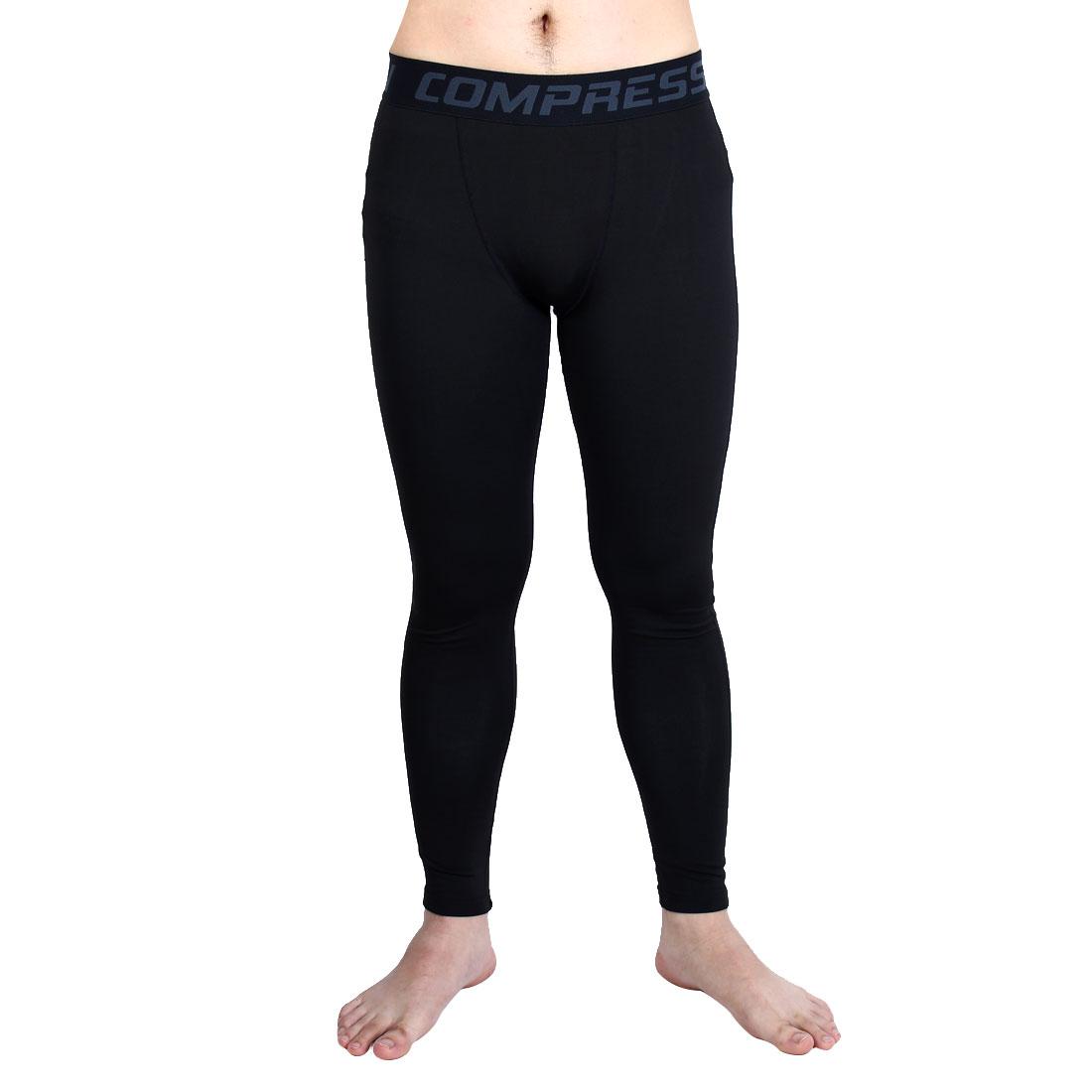 Men Running Biking Athletic Trousers Activewear Outdoor Sports Pants Black W30