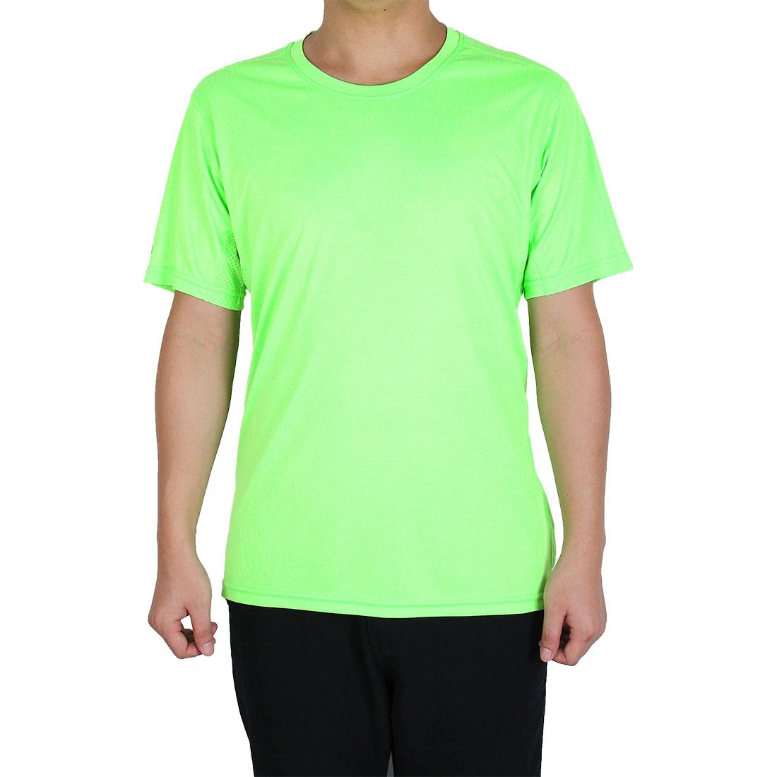 Men Breathable Short Sleeve Clothes Casual Tee Golf Tennis Sport T-shirt Green L