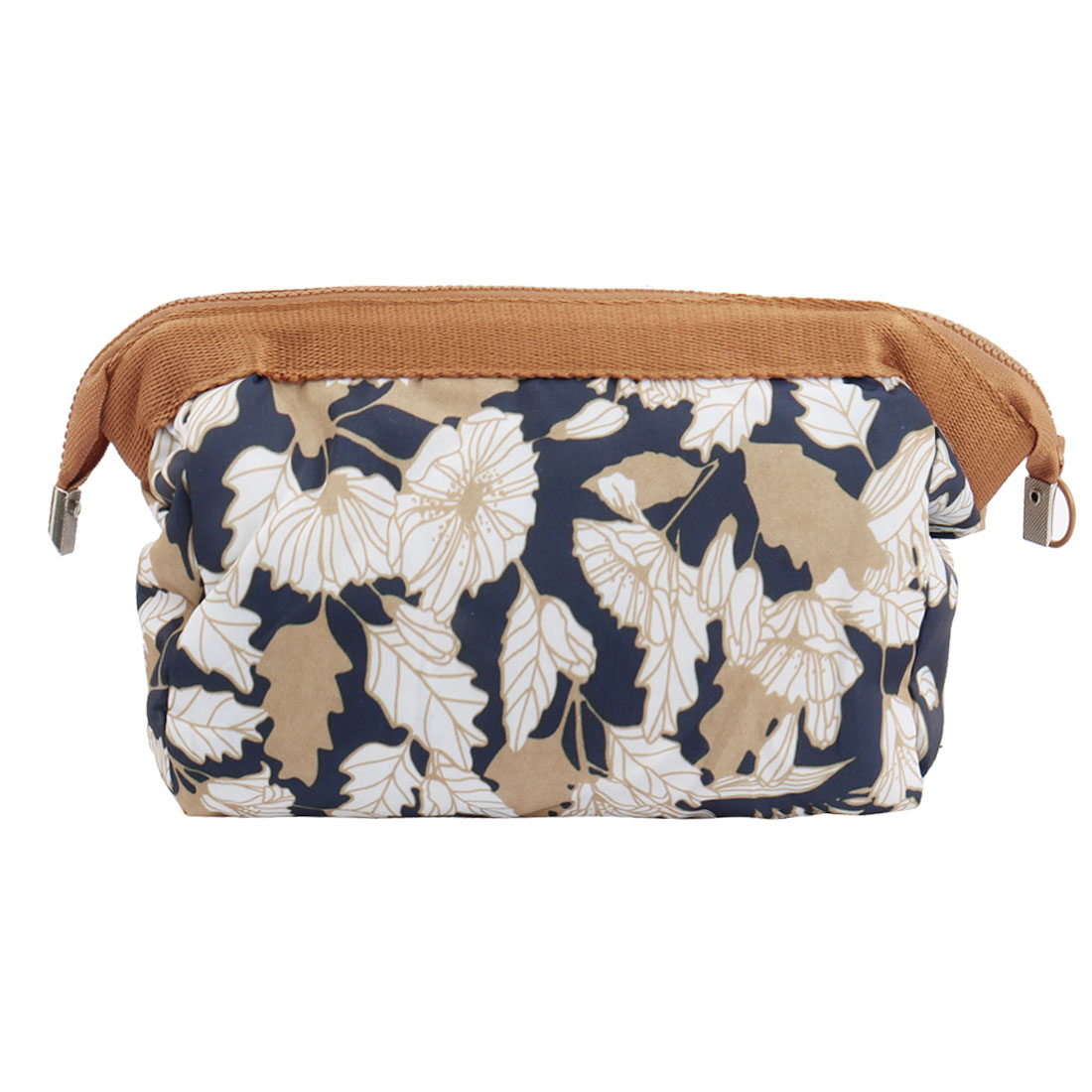 Travel Cosmetic Makeup Bag Wash Bag Organizer Pouch Toiletry Purse Case Brown