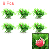 6pcs Green Plastic Grass Water Plant Decoration Landscape for Aquarium Fish Tank