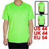 Adult Men Polyester Breathable Short Sleeve Clothes Casual Wear Tee Jogging Running Sports T-shirt Green L