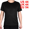 Adult Men Breathable Short Sleeve Clothes Casual Wear Tee Cycling Biking Sports T-shirt Black L