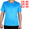 Adult Men Polyester Breathable Short Sleeve Clothes Casual Wear Tee Cycling Biking Sports T-shirt Blue M