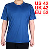 Adult Men Breathable Short Sleeve Clothes Casual Wear Tee Golf Tennis Sports T-shirt Navy Blue L