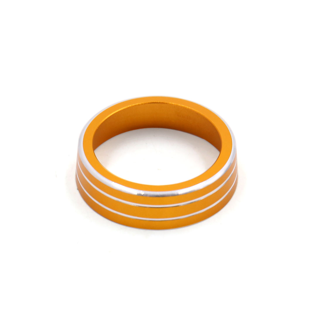 AC Climate Volume Control Knob Decoration Ring Cover for VW Lamando Gold Tone