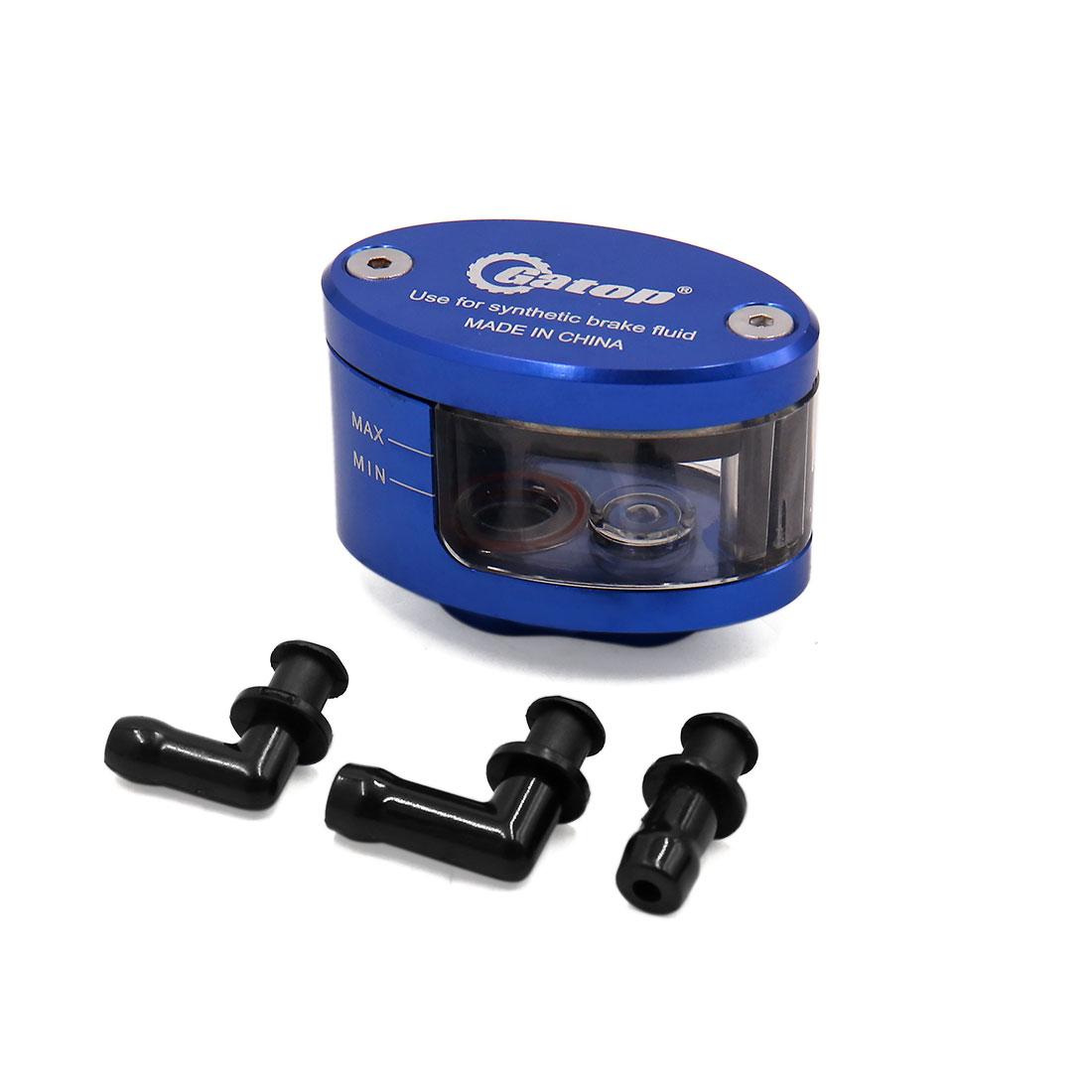 Blue CNC Front Brake Clutch Master Fluid Reservoir Oil Cup for Motorcycle