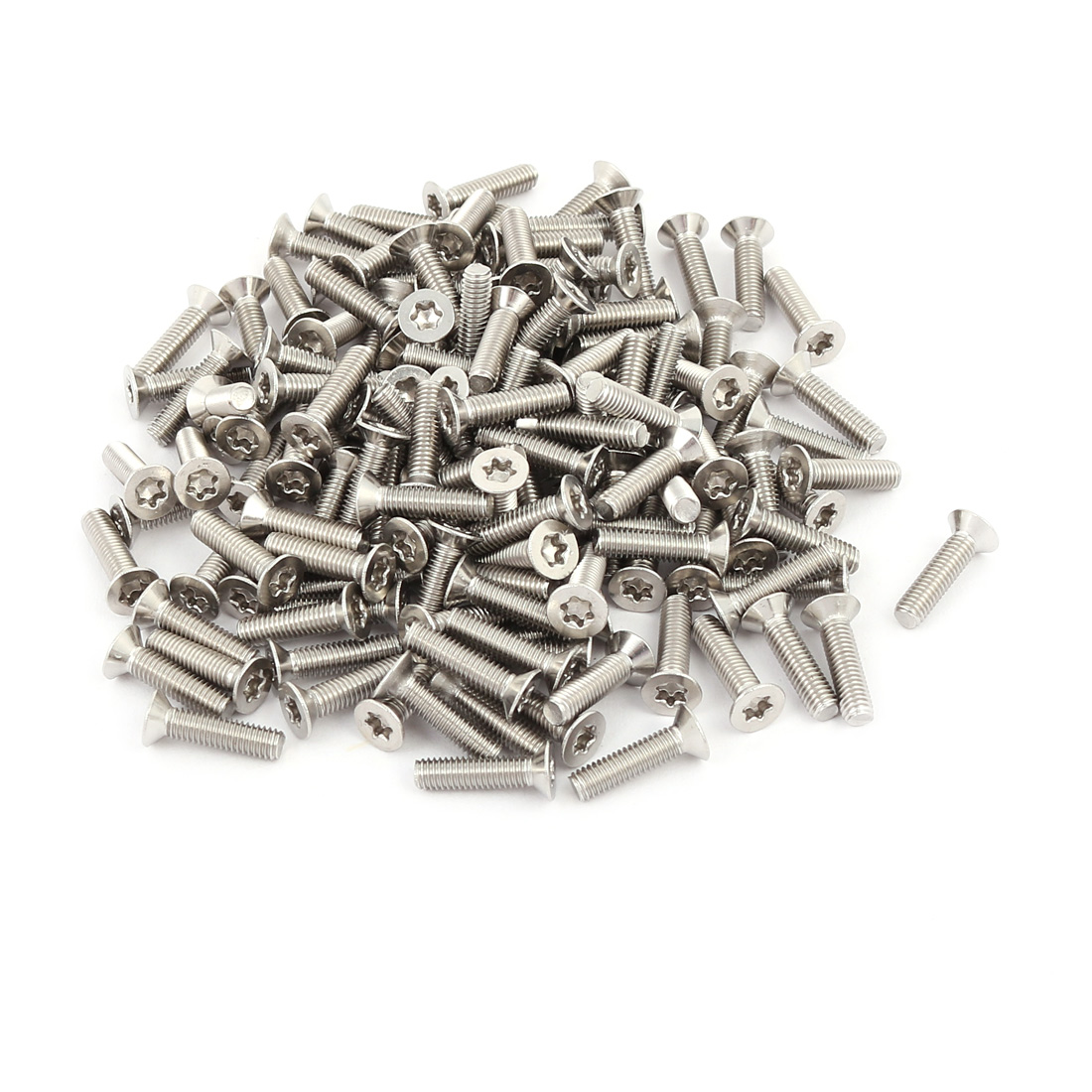 M3x12mm 304 Stainless Steel Fully Thread Flat Head Torx Screws Fasteners 150pcs