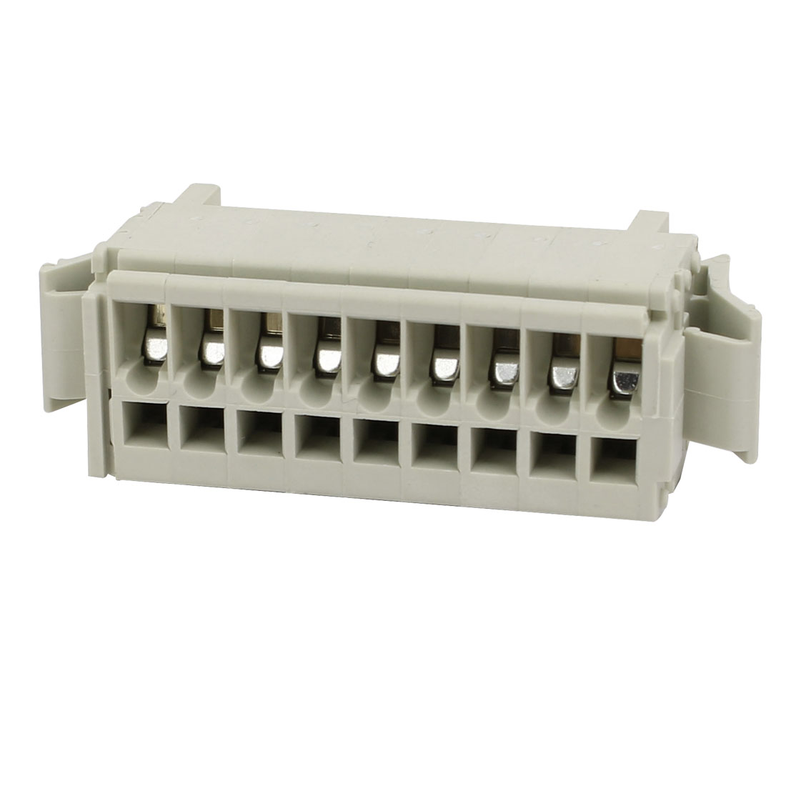 9 Pole 5mm Pitch PCB Screw Terminal Block Connector Gray