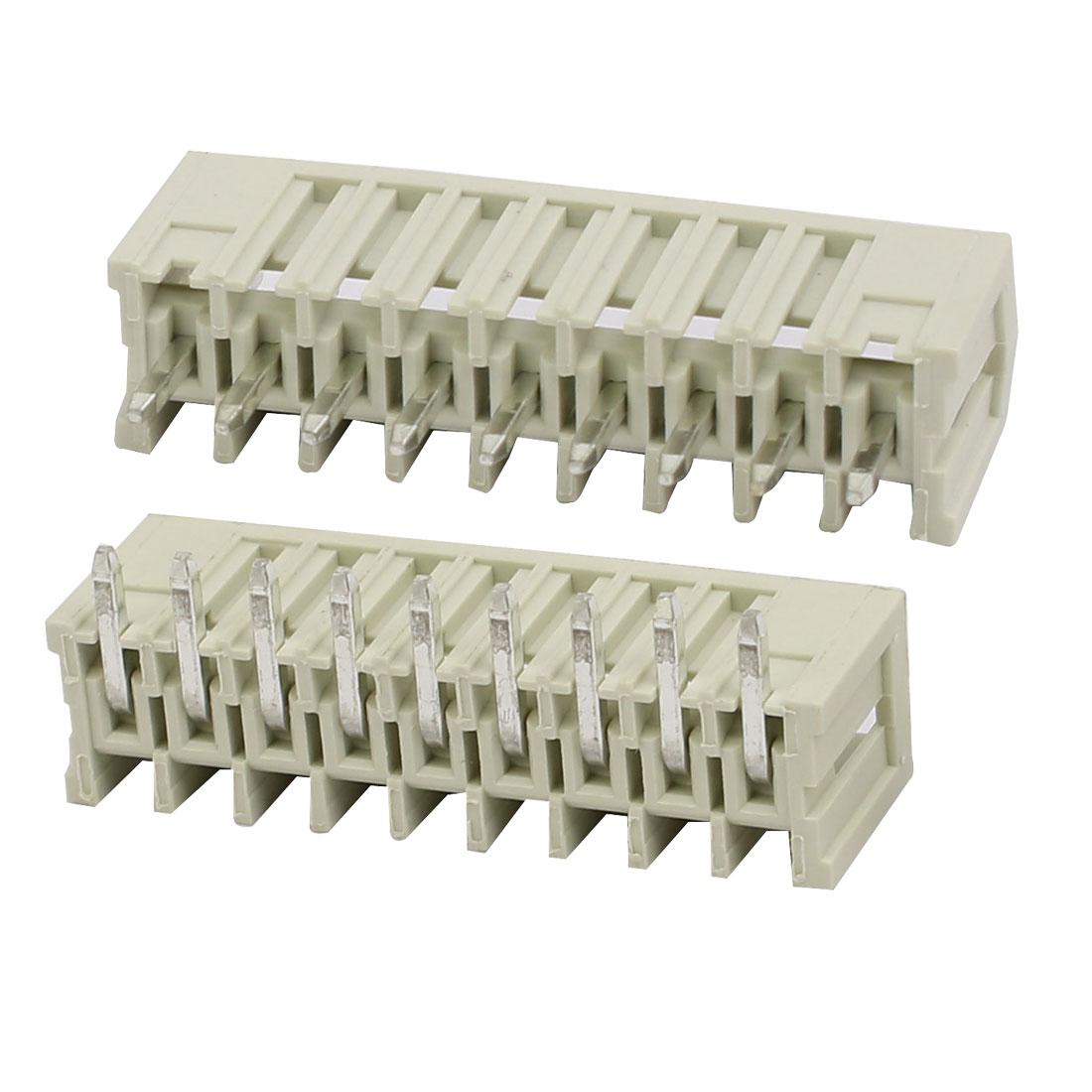 9 Pole PCB 3.5 Pitch 250V 10A Box Header MCS Connectors Pair