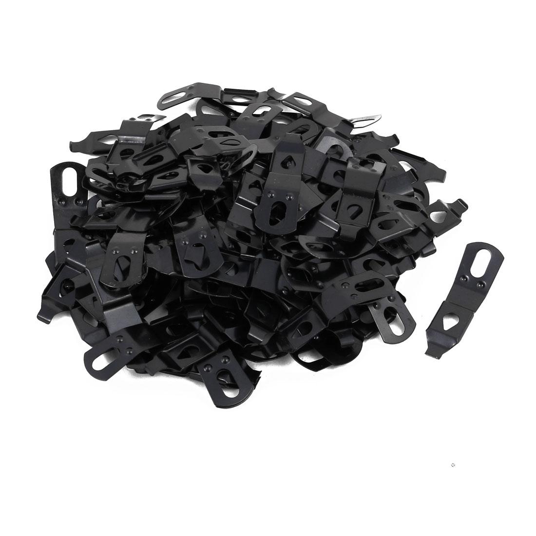 34.5mmx10mmx6mm Picture Photo Frame Metal Spring Turn Clip Hanger Black 100pcs