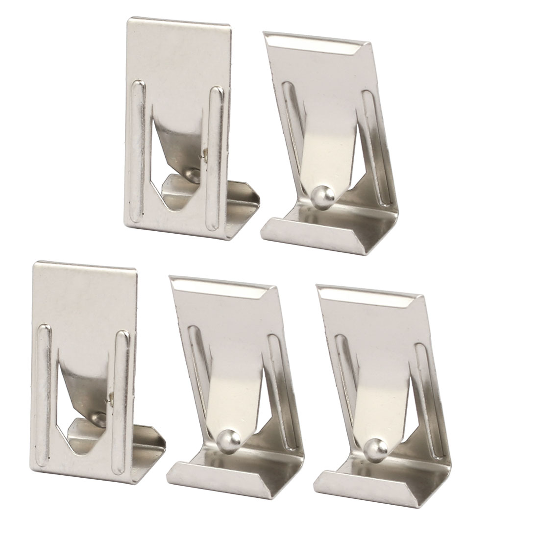 26mmx14mm Picture Photo Frame Metal Spring Turn Clip Hanger Siver Tone 5pcs