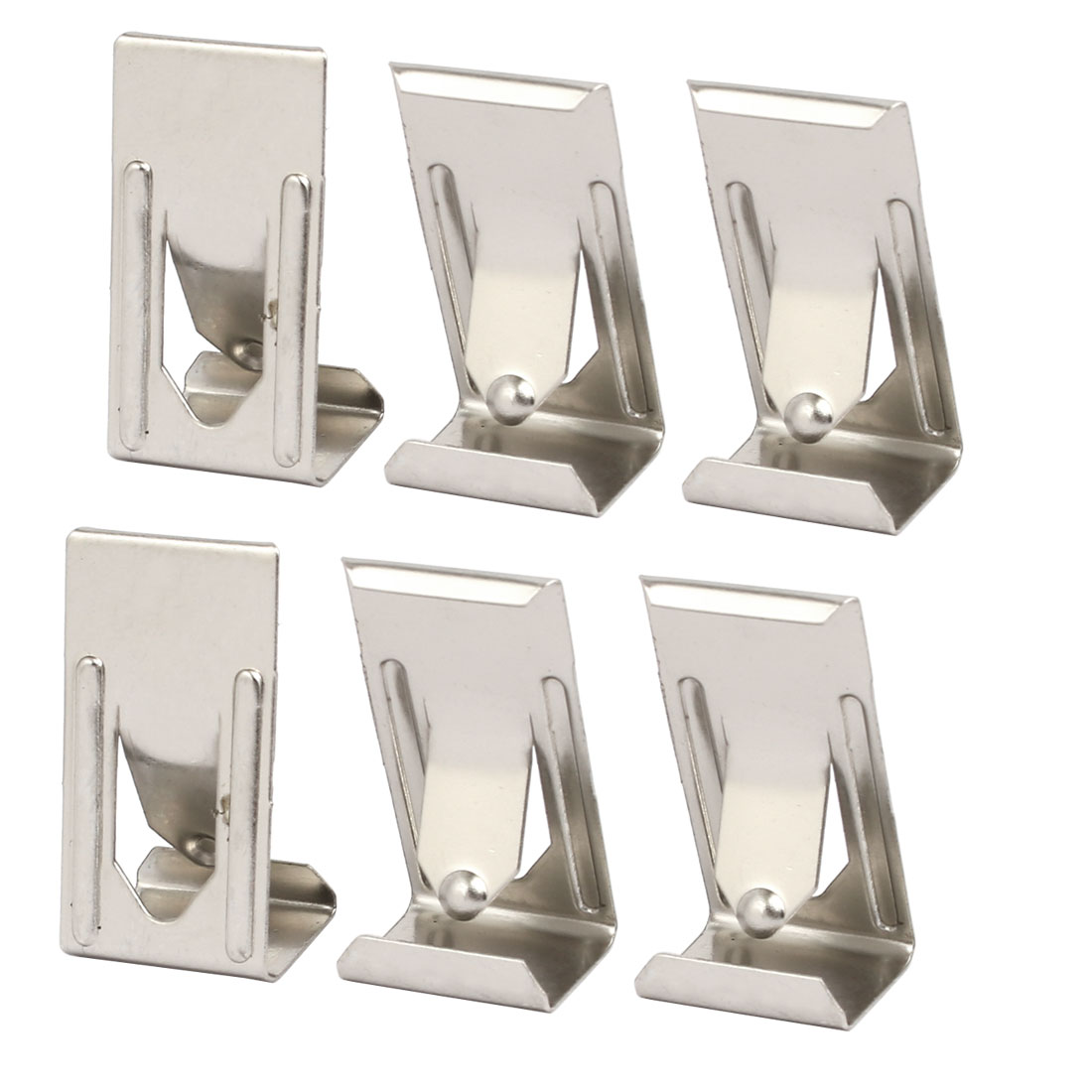 26mmx14mm Picture Photo Frame Metal Spring Turn Clip Hanger Siver Tone 6pcs