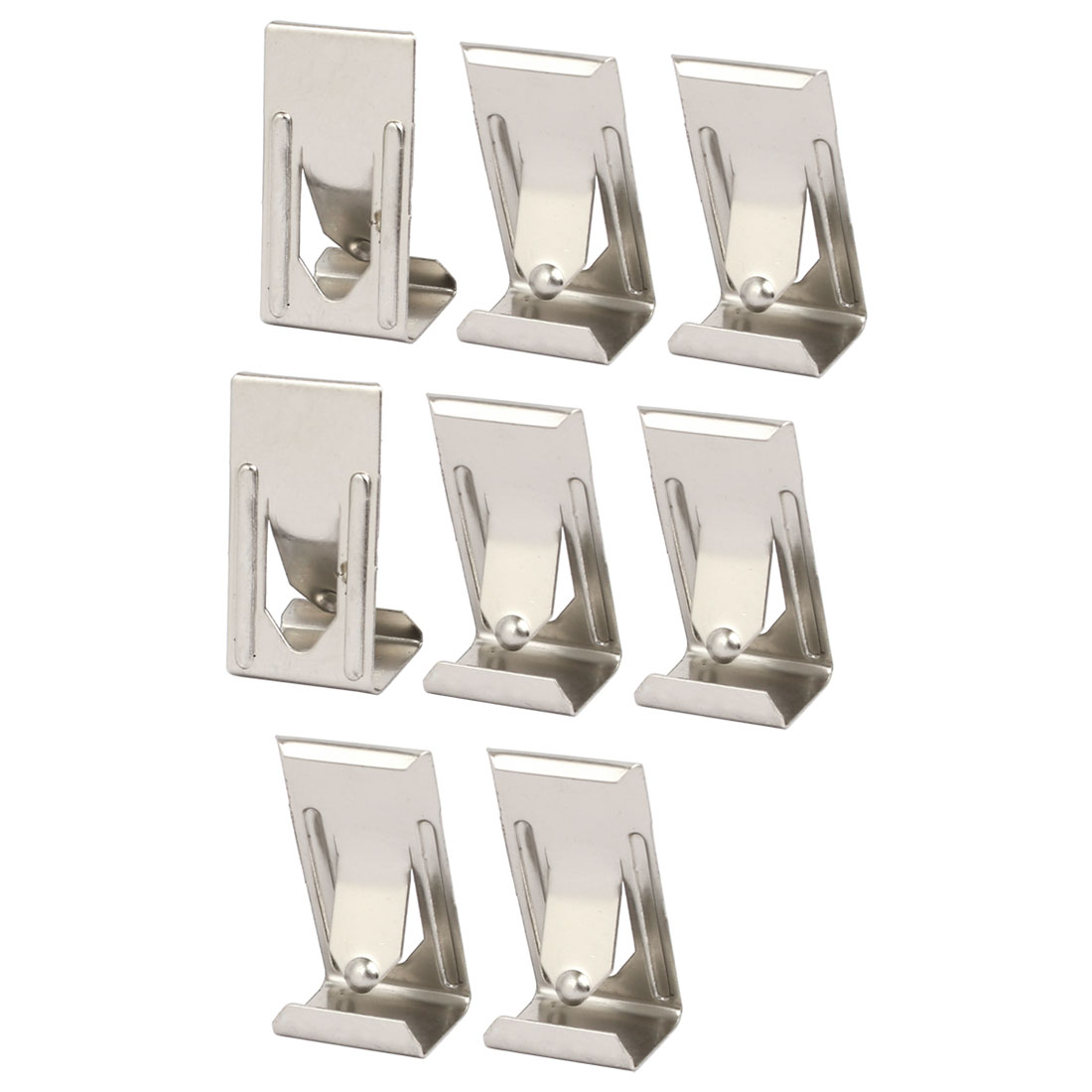 26mmx14mm Picture Photo Frame Metal Spring Turn Clip Hanger Siver Tone 8pcs