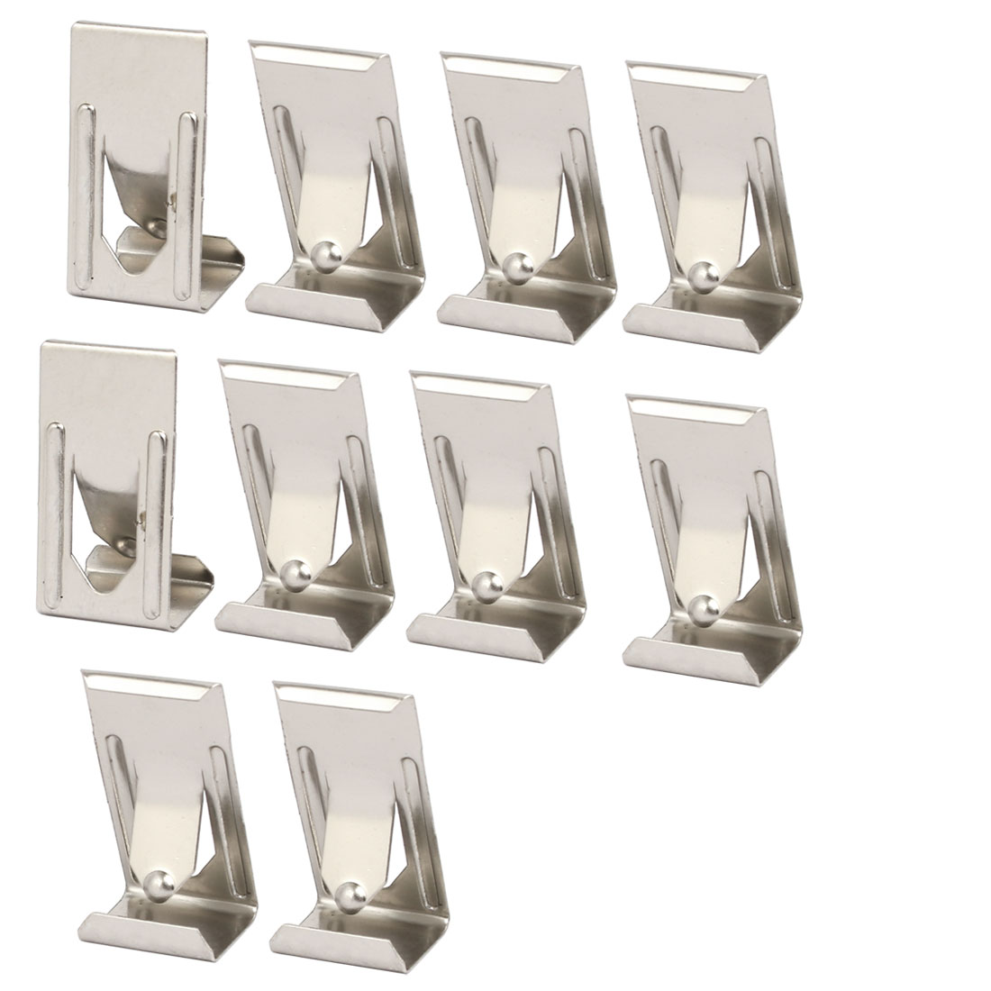26mmx14mm Picture Photo Frame Metal Spring Turn Clip Hanger Siver Tone 10pcs