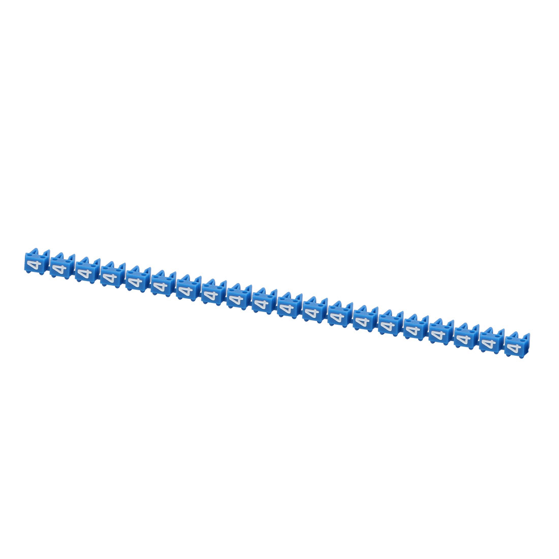 """20Pcs Letters """"4"""" Network Cable Labels Markers Blue for 1.0-3.0mm Dia Wire"""