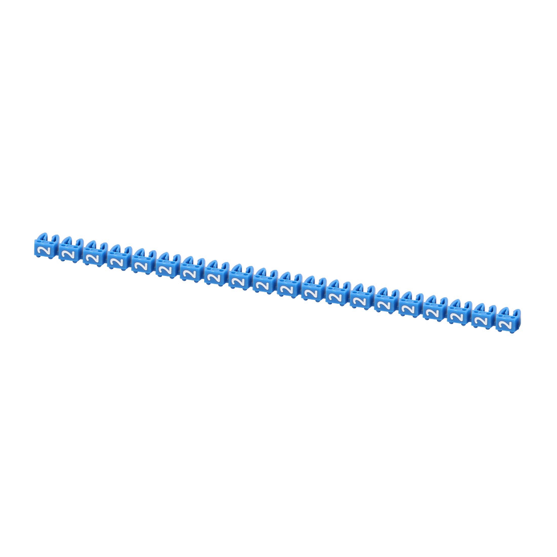 """20Pcs Letters """"2"""" Network Cable Labels Markers Blue for 3.0-4.0mm Dia Wire"""