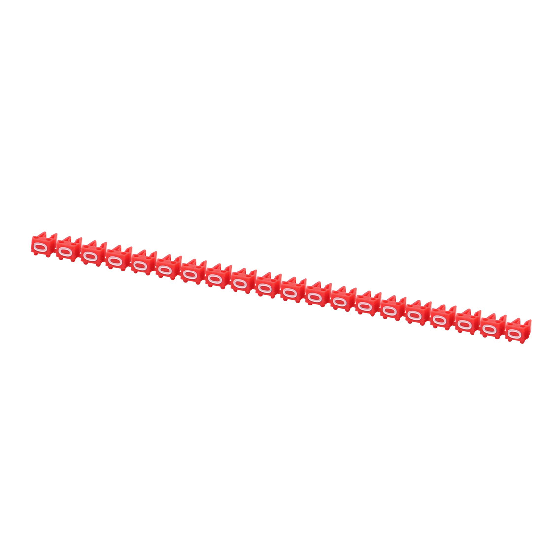 20Pcs Letters 0 Network Cable Labels Markers Red for 1.0-3.0mm Dia Cable