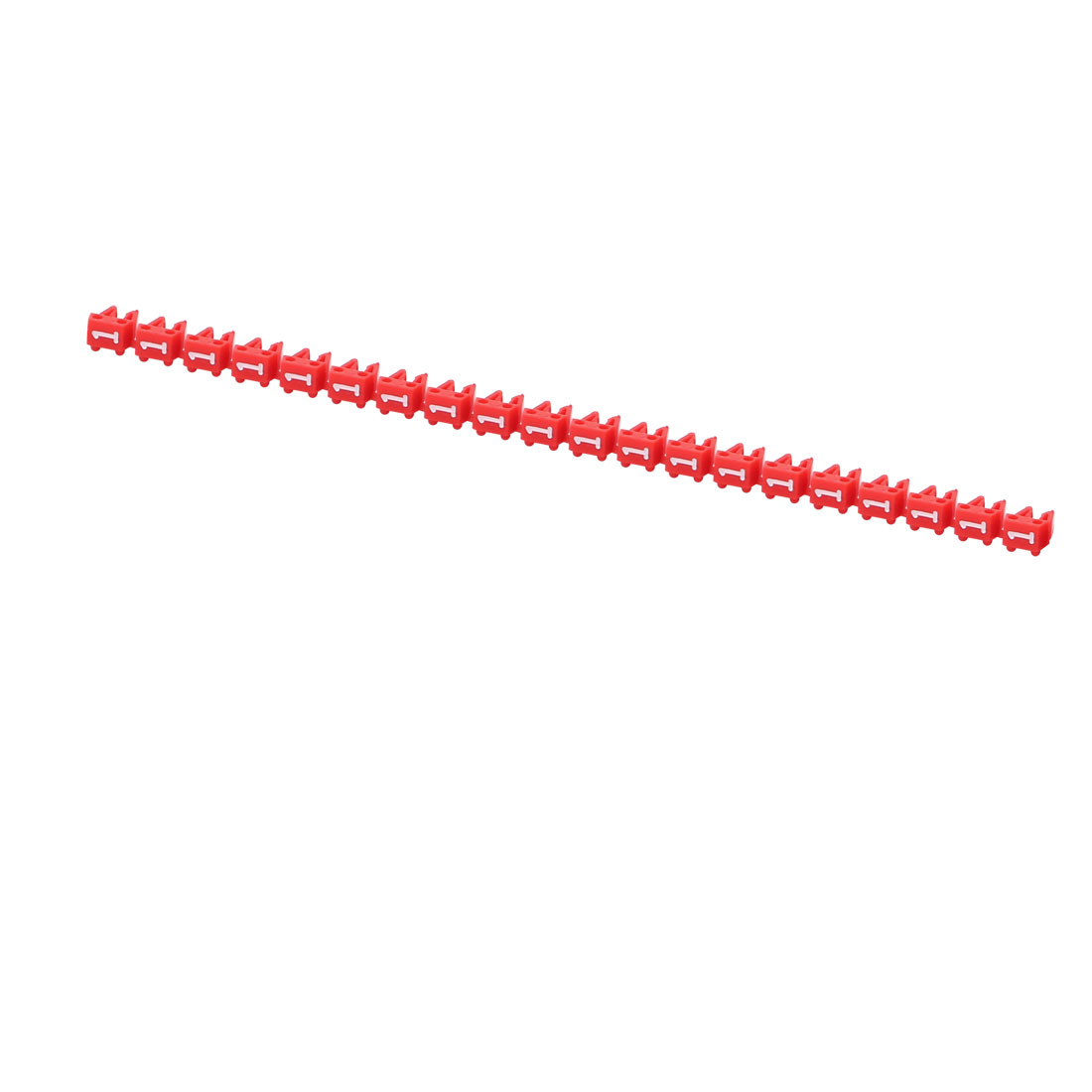 20Pcs Letters 1 Network Cable Labels Markers Red for 1.0-3.0mm Dia Cable