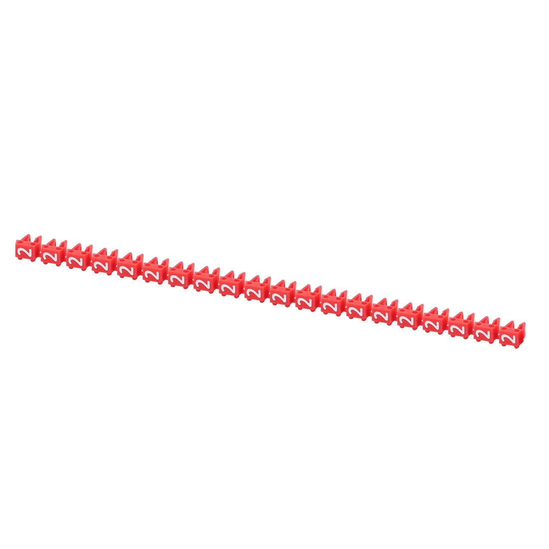 20Pcs Letters 2 Network Cable Labels Markers Red for 1.0-3.0mm Dia Cable